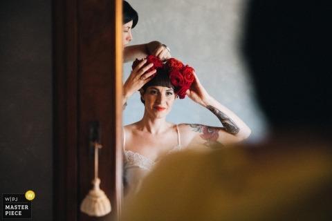 ślub ślubny | fotografia ślubna z Toskanii | przygotowywanie się