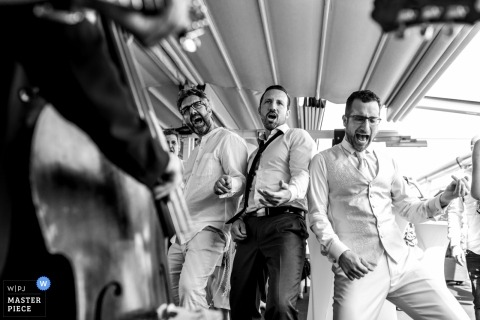 Hotel Plaza Nice, France | Wedding Photography of Reception Bands