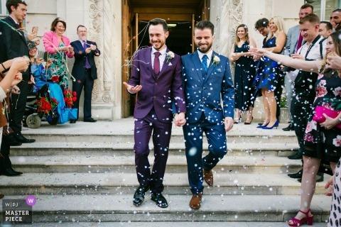 zdjęcie z ceremonii ślubnej w Londynie