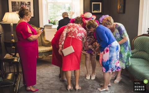 Clonabreany House guests during reception party - Ireland wedding photography