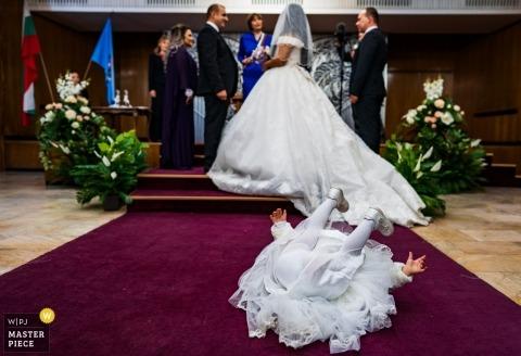 Junior Druhna, ceremonia - Ceremonia z dziećmi - Fotografia ślubna