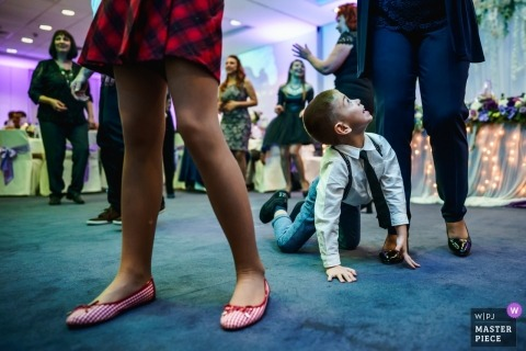 Dancing, child, boy - The wedding reception party is a game for kids
