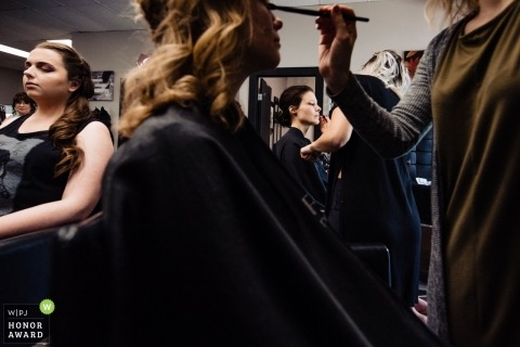 Wedding photojournalism during getting ready at Fort McMurray | Alberta Canada photography