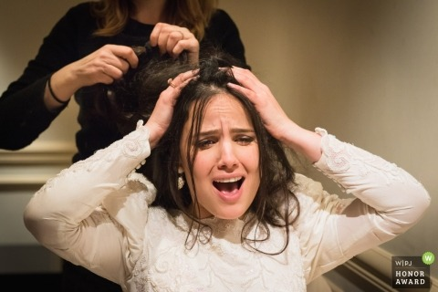 Paris Bride Getting ready - hair issues