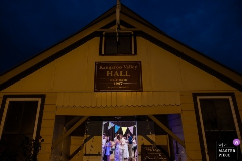 NSW Australia wedding photograph of the Celebrations at Kangaroo Valley Hall