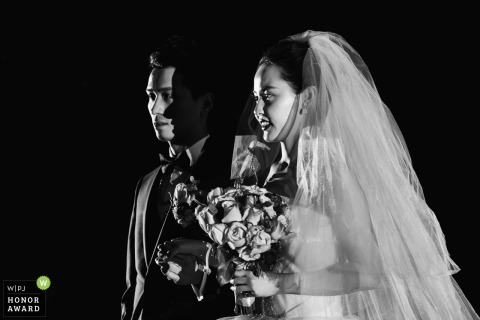 Hangzhou China wedding ceremony photography in black and white | Light and shadow
