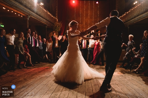Wiltons Music Hall weddings | First Dance for the bride and groom