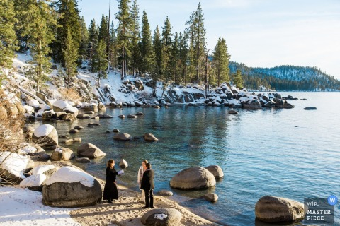 Secret Cove, NV - A still, quiet and private location for a Lake Tahoe elopement wedding ceremony