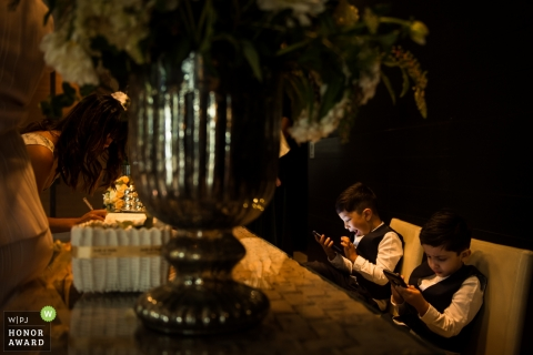 Melbourne Pageboy playing games during wedding reception