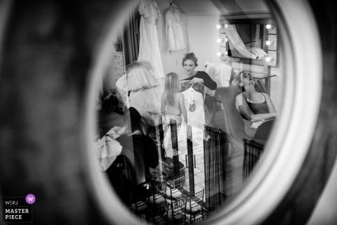 Millbridge Court, UK photograph of Bridesmaids during wedding preparations