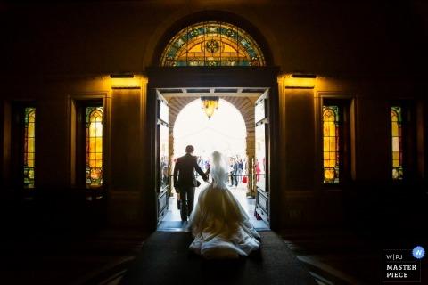 Chris Shum, of California, is a wedding photographer for Stanford Memorial Church, Palo Alto