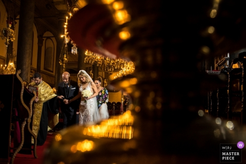 Orthodox Patriarchate Istanbul - Bride and Groom Doing The Ceremonial Walk