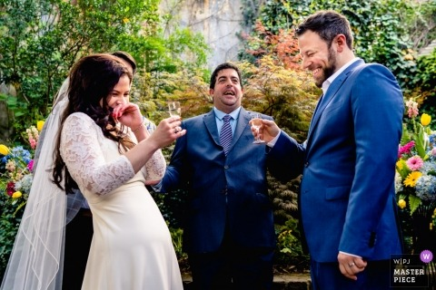 Fotografia ślubna Atlanta Georgia z ceremonii plenerowej - zdecydowanie tak