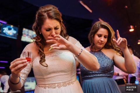 Feasterville, PA wedding reception -  the drink is very Sour