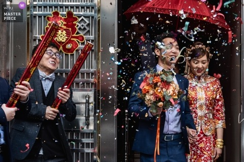 Guangzhou Surprise confetti cannons - actual day wedding photography