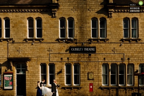 Guiseley Theatre Wedding Venue Photo of The Bride Arriving