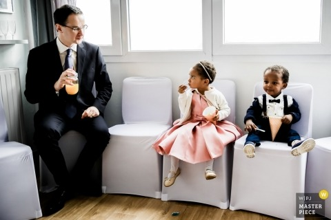 Lille - France wedding photographers - Like a child. Hanging out with children during the reception