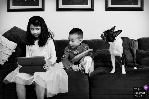 San Francisco wedding photography | Children and dog.