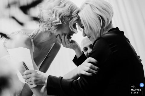 Wedding photographer for YORK MILLS GALLERY | bride and mom moment