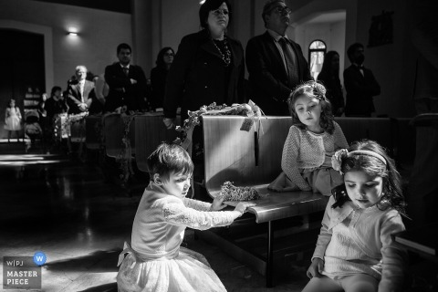 Padova Villa Molin photography | Kids during the wedding ceremony