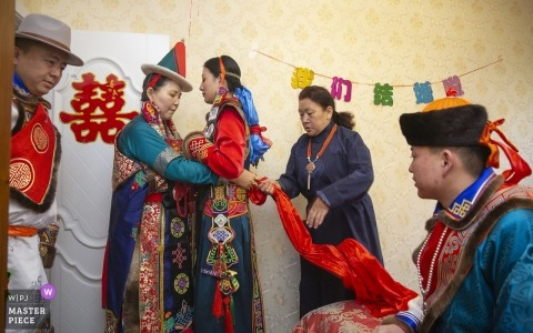 Xining Qinghai actual day wedding photography in color