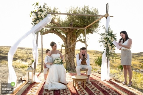 An emotional outdoor ceremony in Terres des Etoiles Marrakech