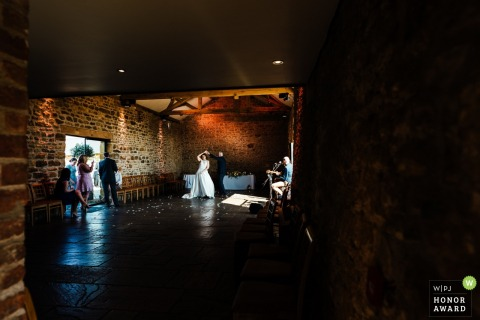 Dodford Manor | A sneaky, private first dance by the bride and the groom