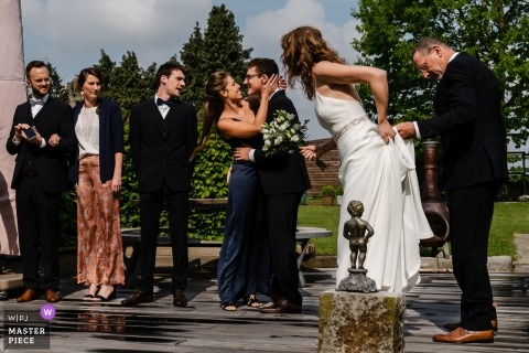 De Beekhoeve, fotografia ślubna Landena po ceremonii plenerowej.