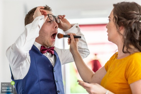 Illkirch wedding photo of the groom | Make-up darling !