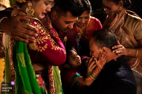 Gujarat India Destination Photography -  Indian wedding love and hugs