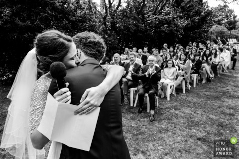 Fon de Rey, Pomerols, France | Outdoor venue photography during Emotional ceremony