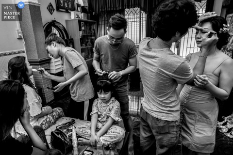 China town in Sai Gon - Ho Chi Minh Wedding photography of preparation time