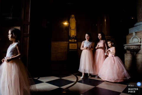 Budapest-St. Stephen's Basilica Wedding Photo - The girls are ready, moments before the wedding ceremony