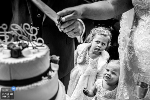 Vlaamsche Spijcker wedding reception photography   Kids and wedding cake, a nice moment