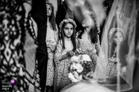 Varna Cathedral, Varna, Bulgaria wedding photography showing The Bride and the Flower Girls