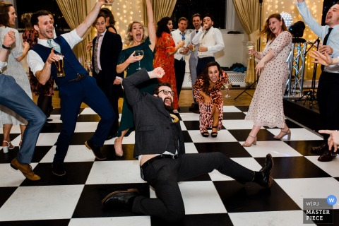 Farnham Castle, Farnham, Surrey, England Wedding Reception Photography - Dance floor moves and grooves