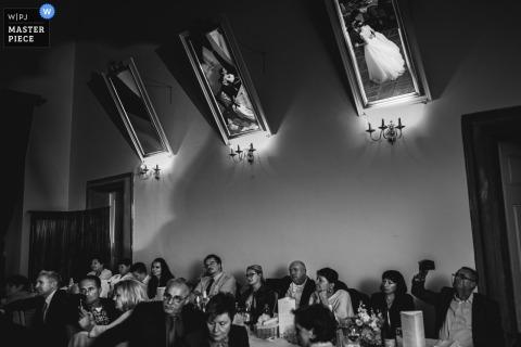 Štatneberg, Makole, Slovenia First Dance Wedding Photo in Black and White