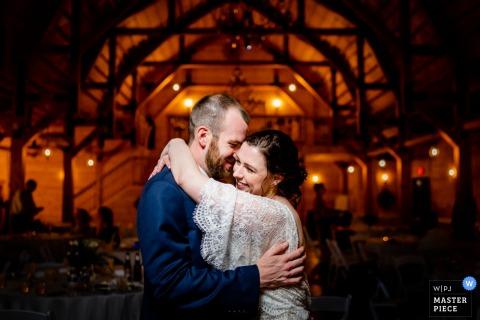 Stoneyman Ranch, Luray, Virginia Wedding Day Photography of bride and groom enjoying their last dance of the reception