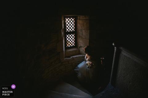 Cloître de Carennac, Francja Zdjęcie panny młodej idącej do miejsca odbioru