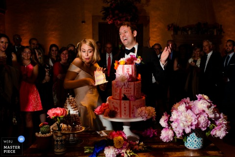 Monterey Peninsula Country Club - cake cutting photograph with the bride and groom
