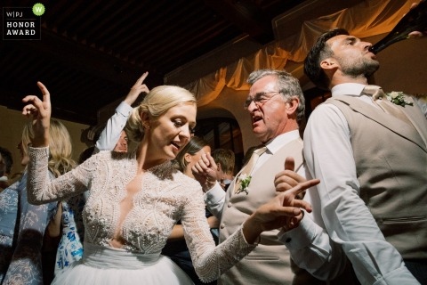 Annecy wedding photo - Dancefloor time!