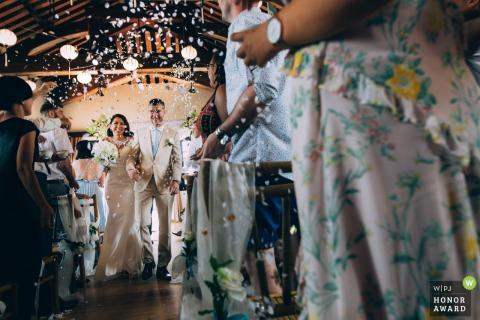 Victoria resort Hoi An salle de mariage photo de la mariée et du marié marchant