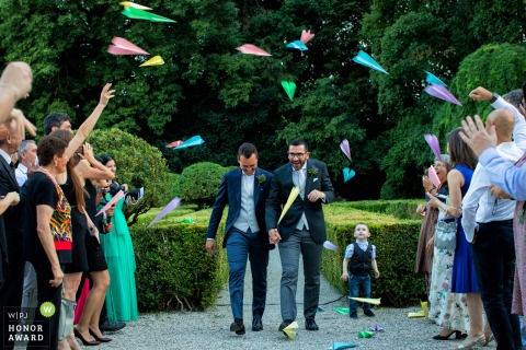Villa Molin - Padua - Italy outdoor wedding venue picture - Paper airplanes