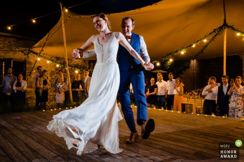 La Petite Fabriek wedding venue photo of the bride and groom - First Dance on point!