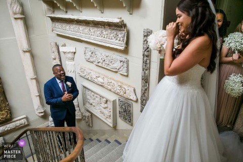 Photo of the Father of the Bride Reveal at Aynhoe Park