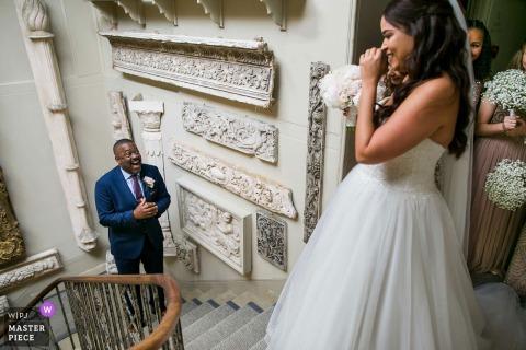Foto des Vaters der Braut enthüllen bei Aynhoe Paek