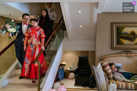 Beijing Youshanmeidi Hotel Wedding Photographer | The wedding started early.
