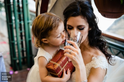 Bride and her daughter at the Grand Hotel Sofia - Wedding Photography
