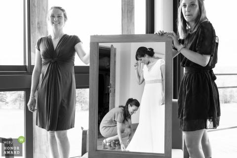 Domaine de Montagenet Wedding Photograph | Bride Getting ready