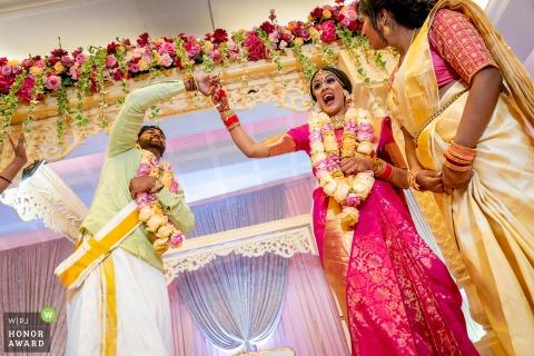 Templo de Oshwal, Londres Juegos de boda | foto de reportaje de boda